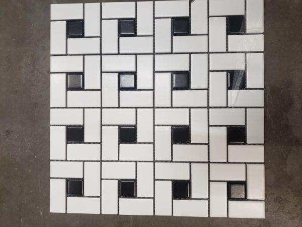 C Pinwheel Black White